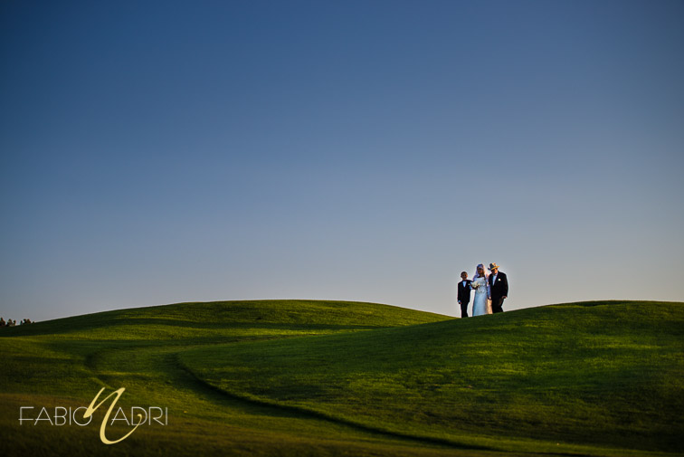 Bride escorted by father Revere Golf Club