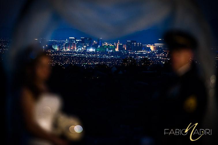 Las Vegas skyline view Revere Golf Club