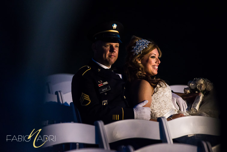 Military wedding photo Revere Golf Club