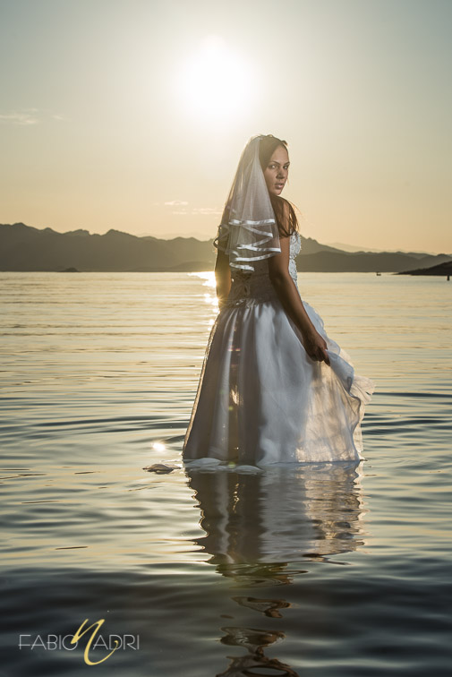 Bride lake mead sunset photo