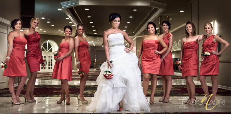 Bride and bridesmaid Plaza hotel Las Vegas