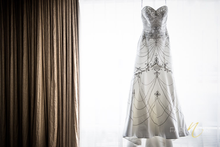 Bridal gown photo Aria hotel