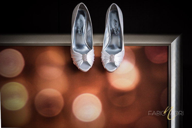 bridal shoes photo Aria hotel