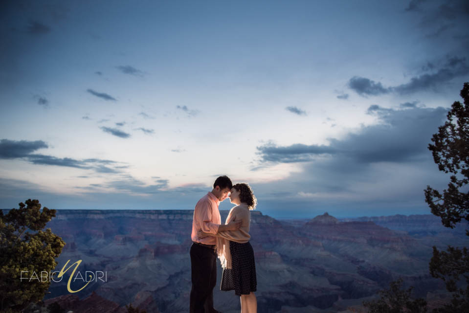 Grand Canyon shoshone point engagement photo