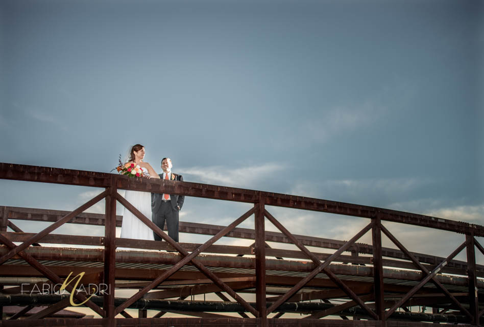 Bride groom bridge Lake Las Vegas