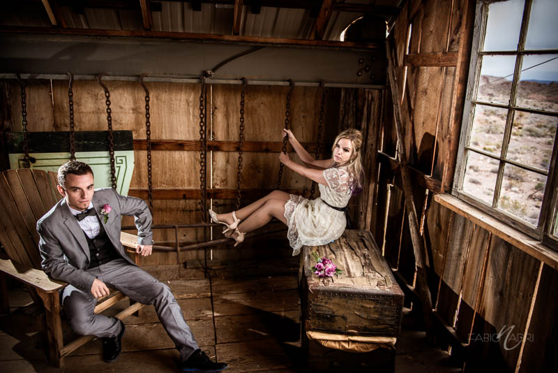 Nelson ghost town elopement barn photo