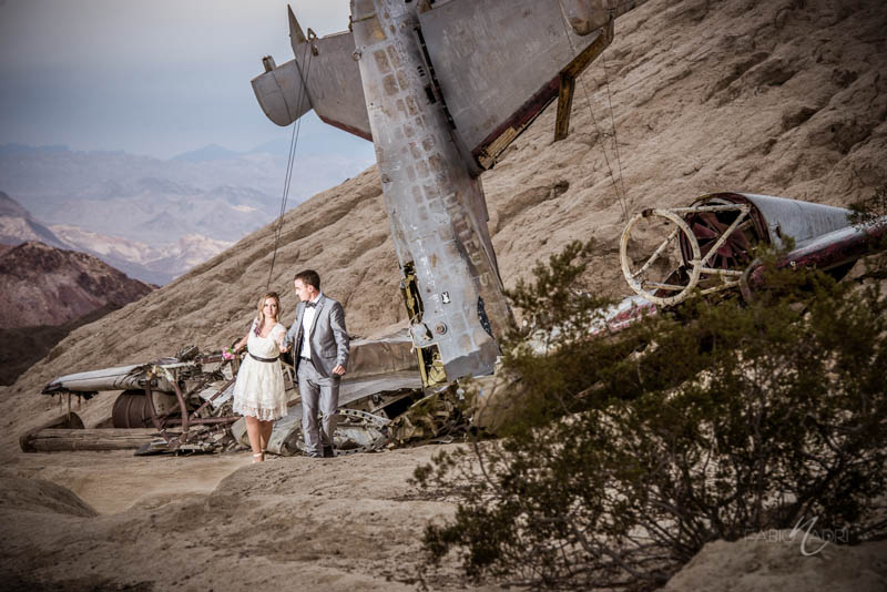 Nelson ghost town elopement plane photo