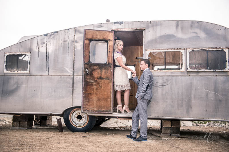 Nelson ghost town elopement airstream photo