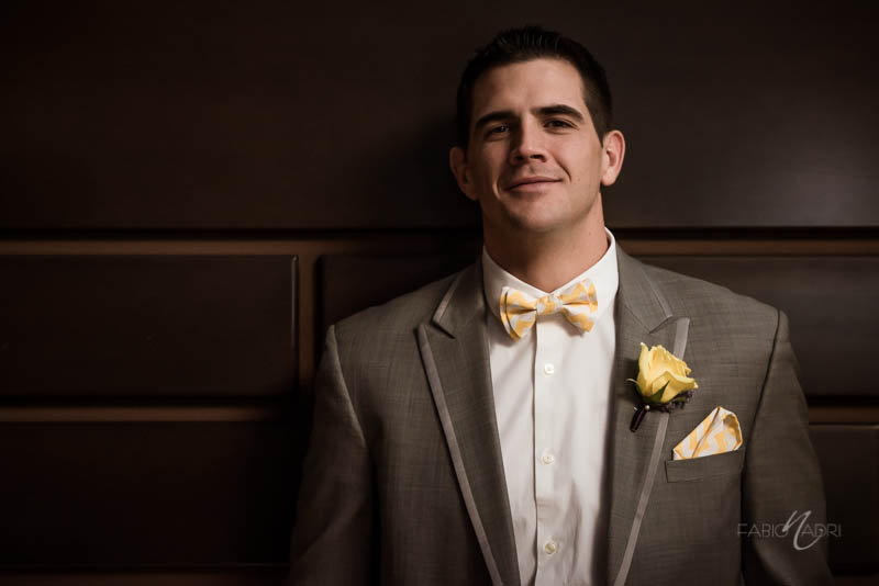 Groom photo yellow chevron stripes