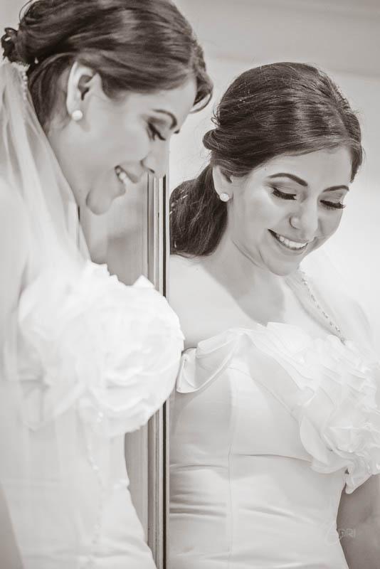 Bride mirror portrait