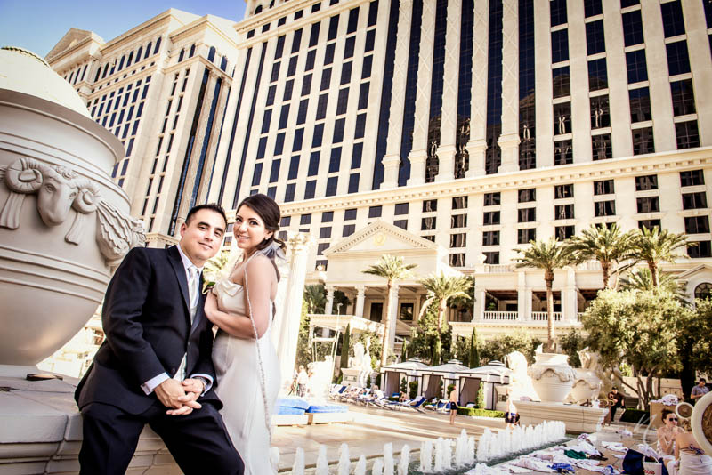 Bride groom caesars palace