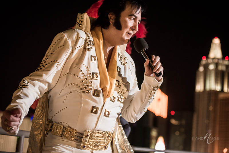 Elvis impersonator MGM Skyline Terrace suite