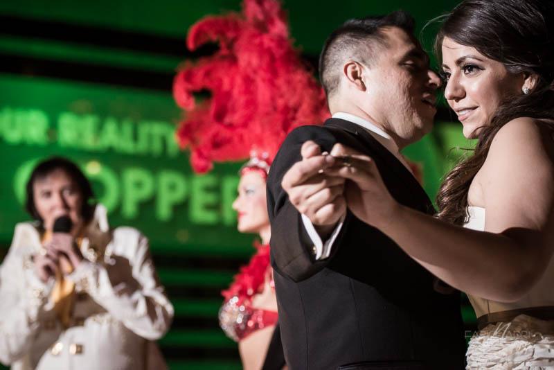 Bride groom Elvis showgirl