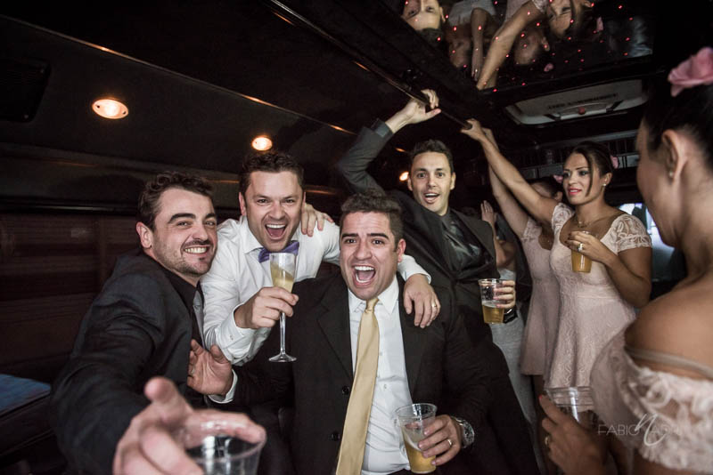 Party bus groom photo