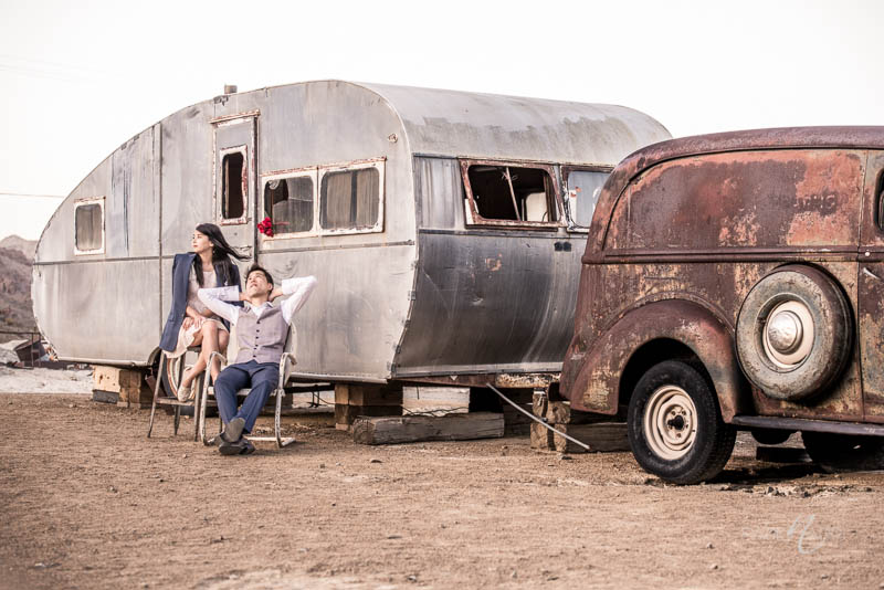 Nelson airstream engagement photo