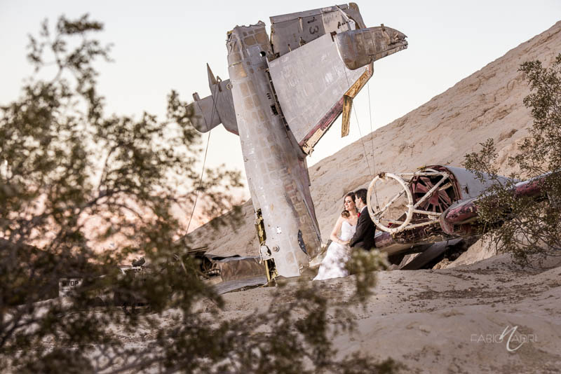 Bride groom Nelson crashed airplane photo