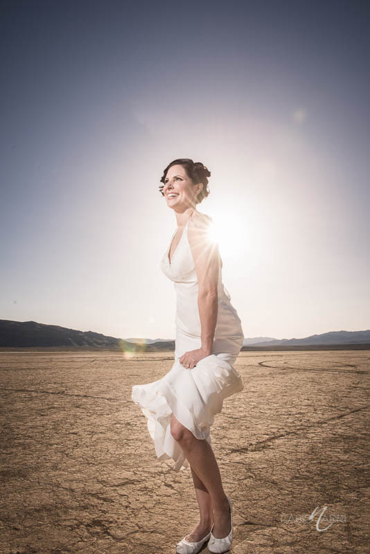 Bride desert photo