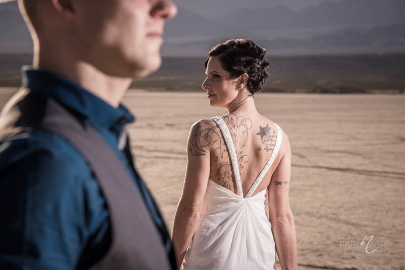 Bride groom desert