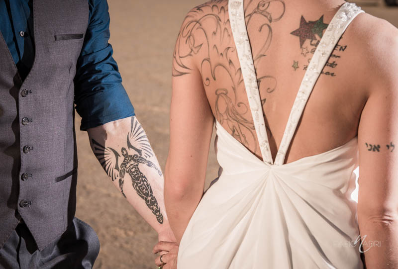 Bride groom tattoo