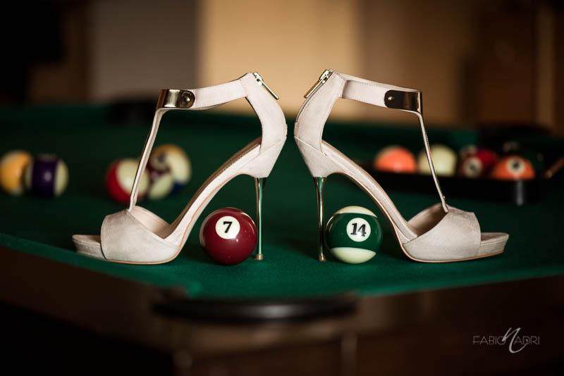 Bridal shoes Bellagio executive suite