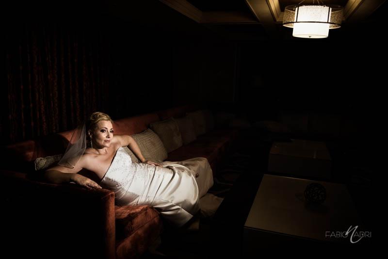 bride portrait Bellagio executive suite