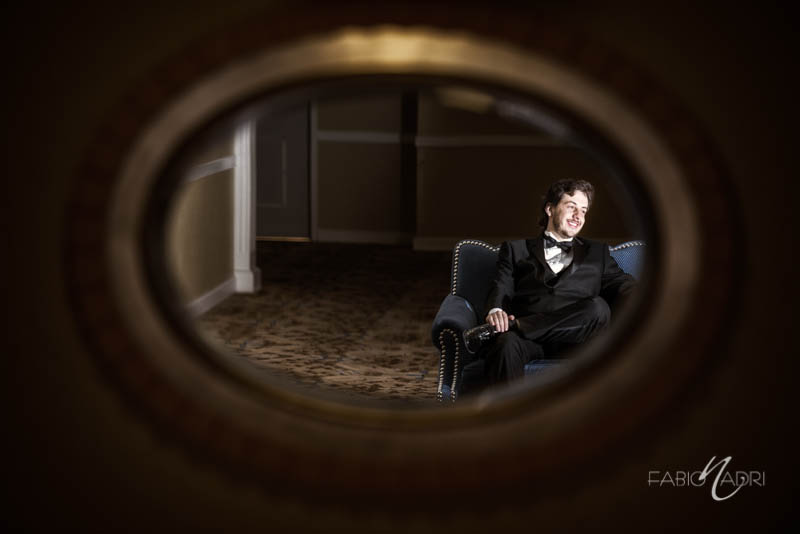 Groom sitting portrait Ballys