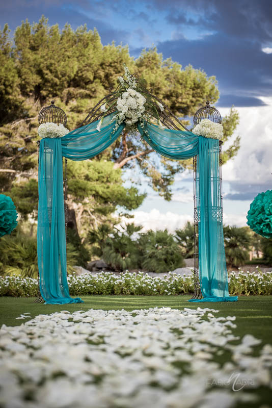 Las Vegas Country Club Ceremony aisle