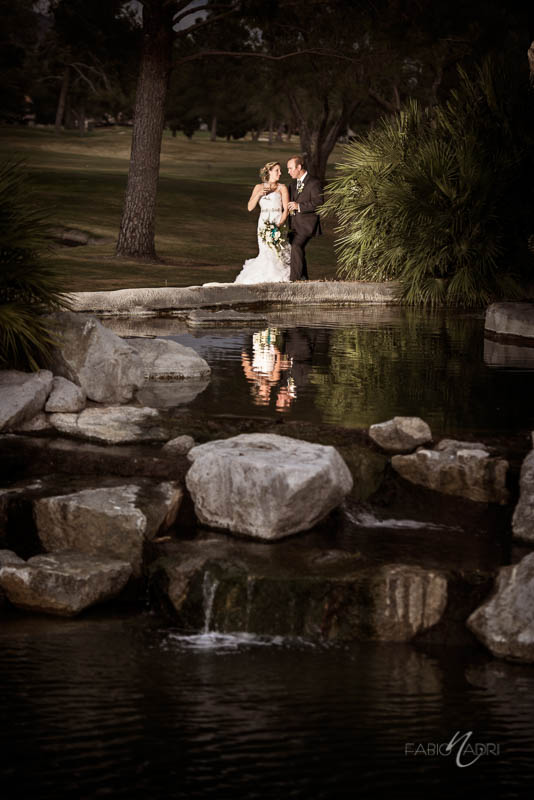 Las Vegas Country Club Bride groom portrait