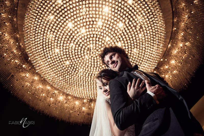 Bride groom photo chandelier