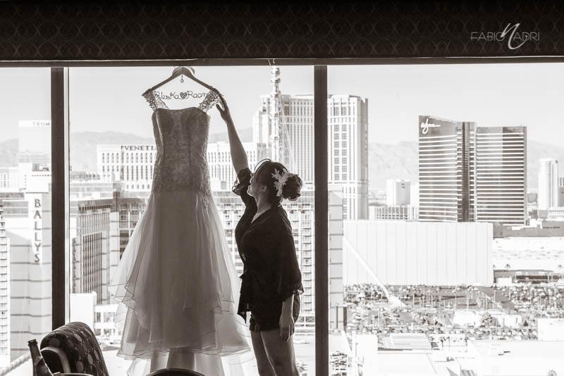 bride getting ready Hilton Elara