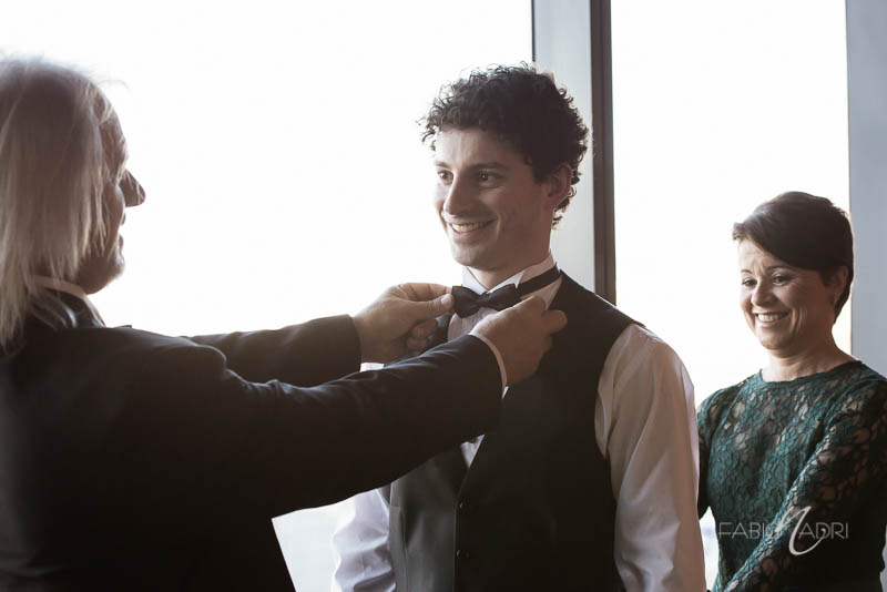 groom getting ready Hilton Elara