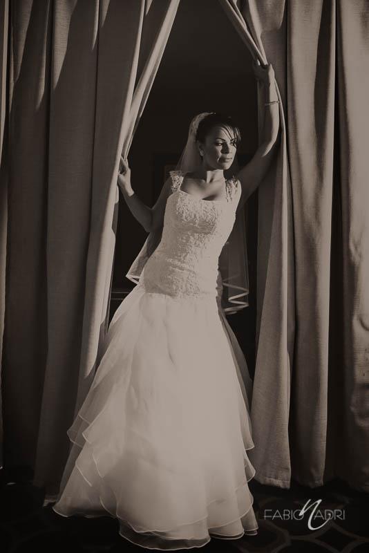 Bride waiting Juno Garden Caesars