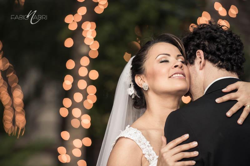 Bride groom intimate hug