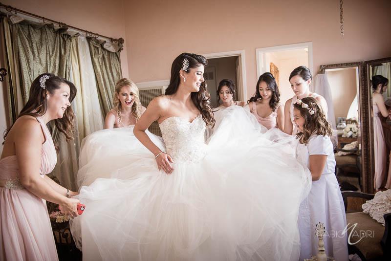La Venta Inn Cottage bride getting ready