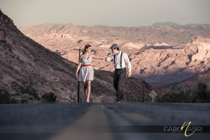Pin up themed Nelson engagement session