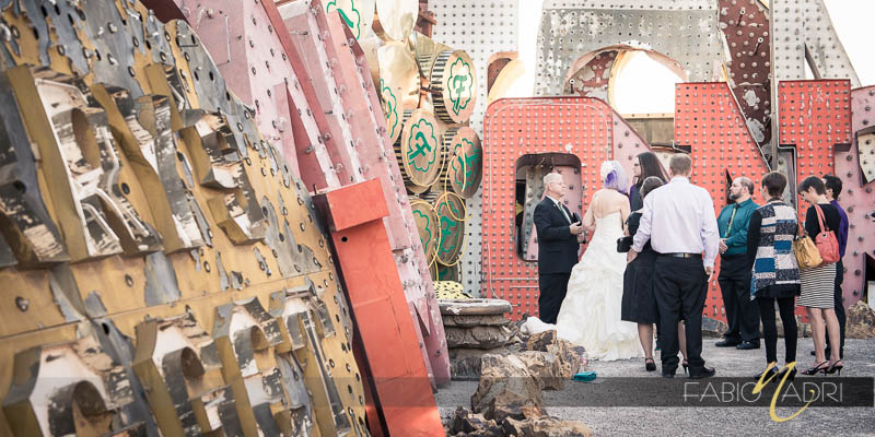 Neon Museum Whimsical Edgy ceremony