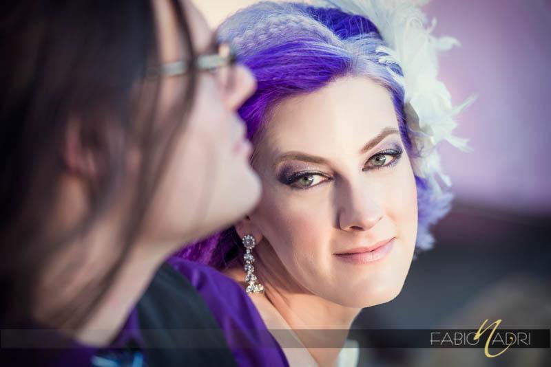 bride purple hair highlights