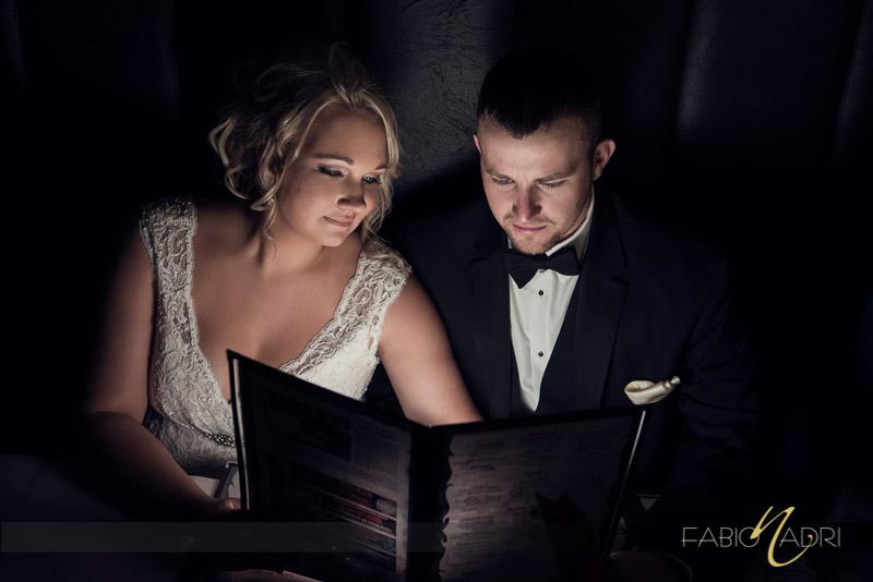 Bride groom pizza rock