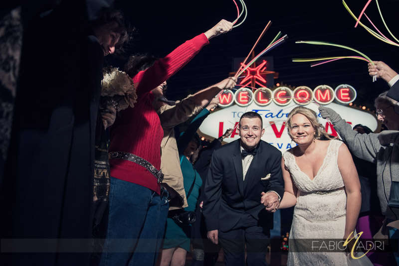 Neon glow sticks wedding recessional