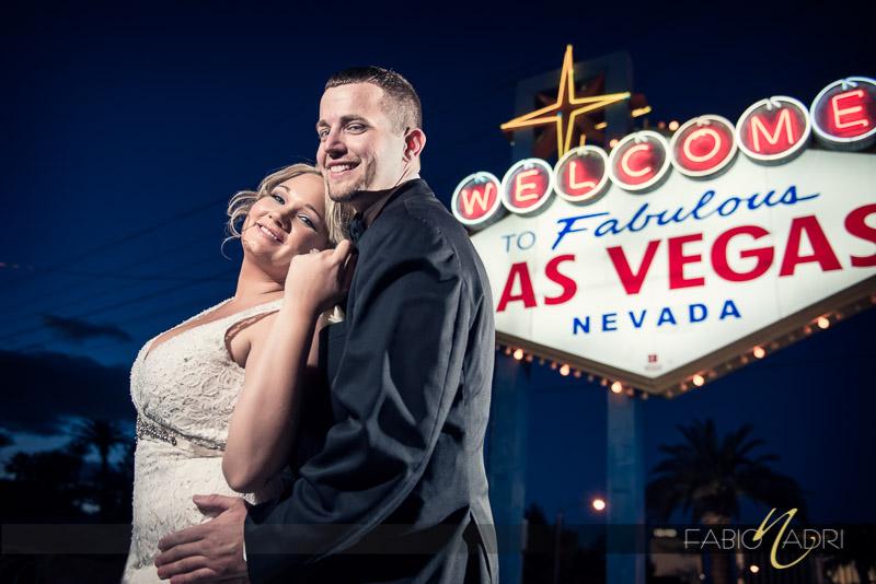 Bride groom las vegas sign picture