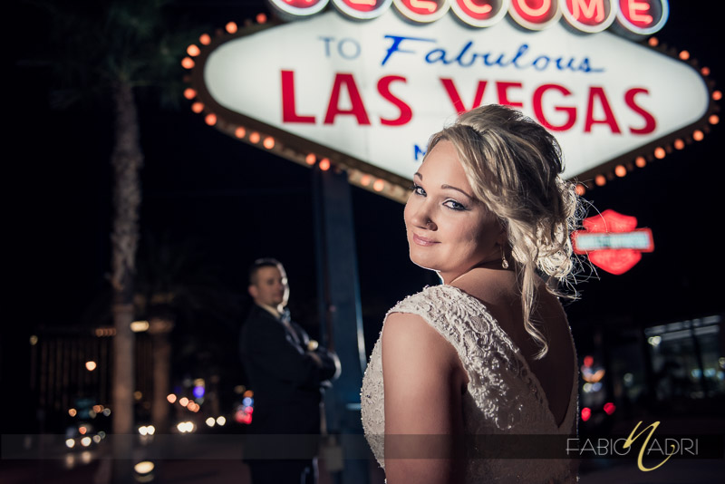 Bride groom las vegas sign picture