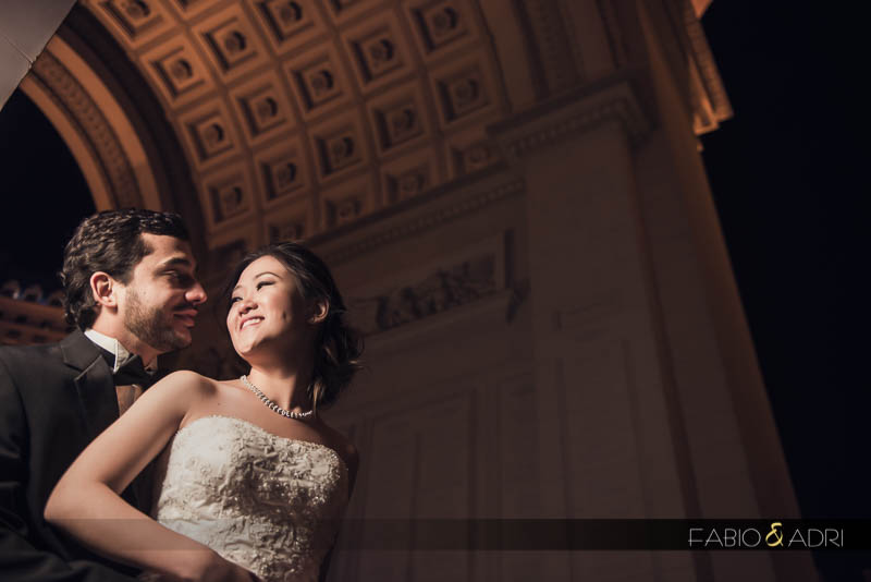 Paris Las Vegas wedding photo