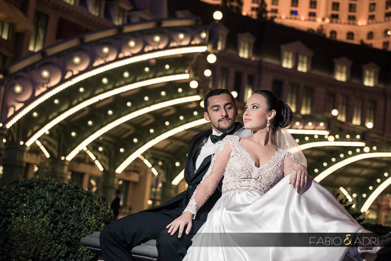 Las Vegas Strip wedding picture