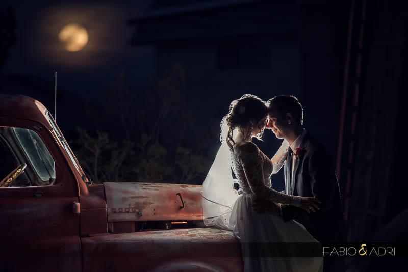 Bride groom full moon Las Vegas