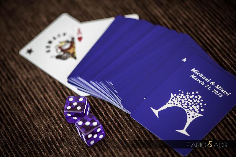 Playing cards wedding favor vegas purple