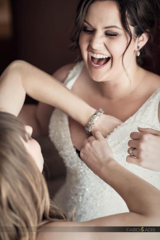 bride getting ready Vdara