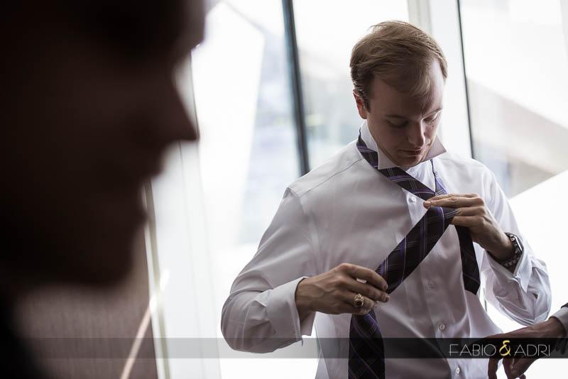 groom getting ready Vdara