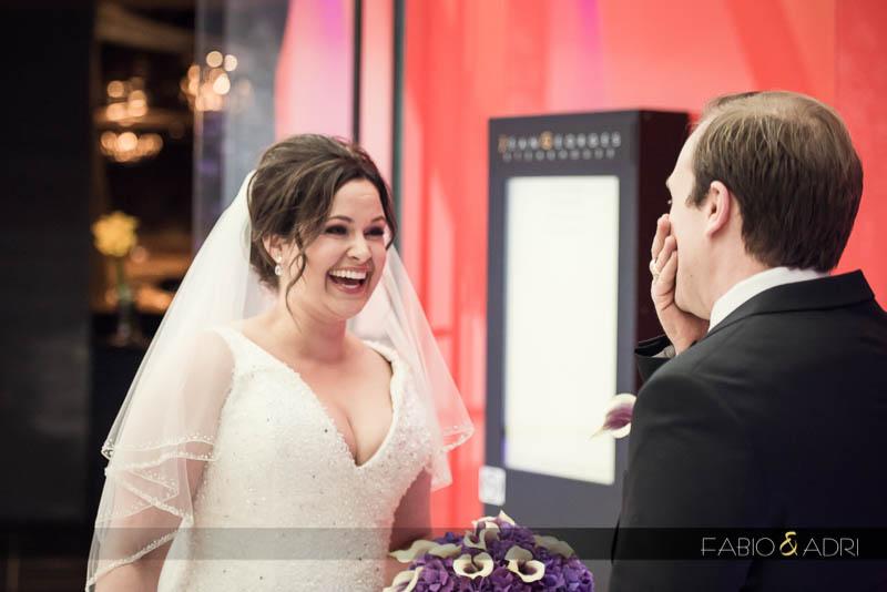 bride groom first look Aria