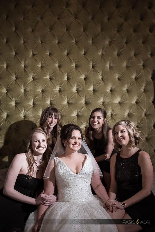 Bride bridesmaids Aria bridal suite