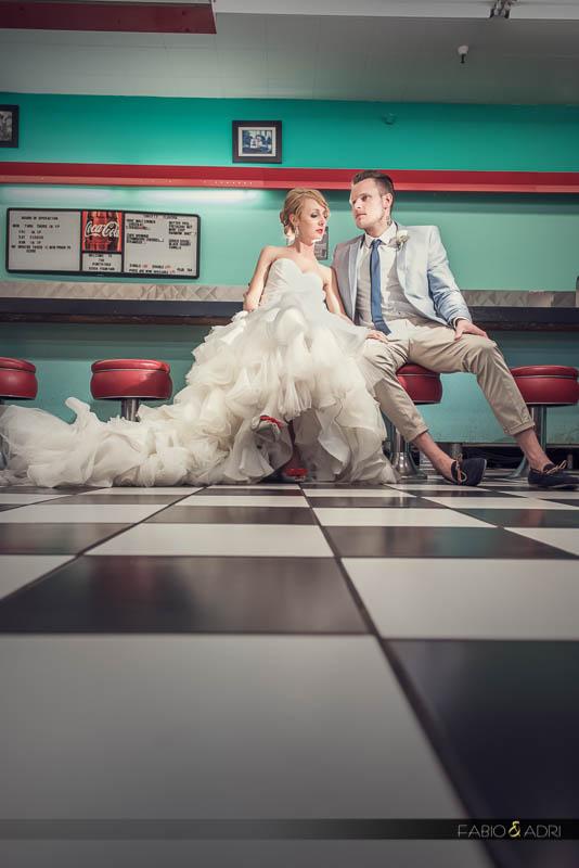 Las Vegas 50s Retro Diner Wedding Photography